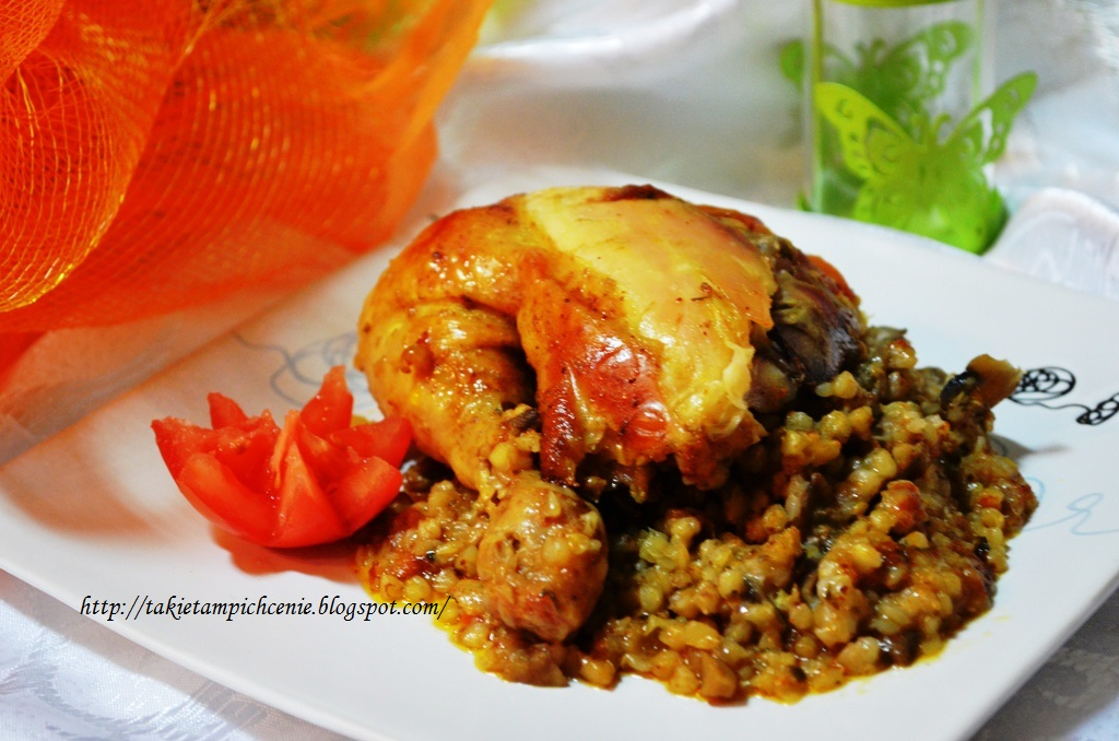 Kurczak faszerowany kaszą gryczaną -pyszny obiad