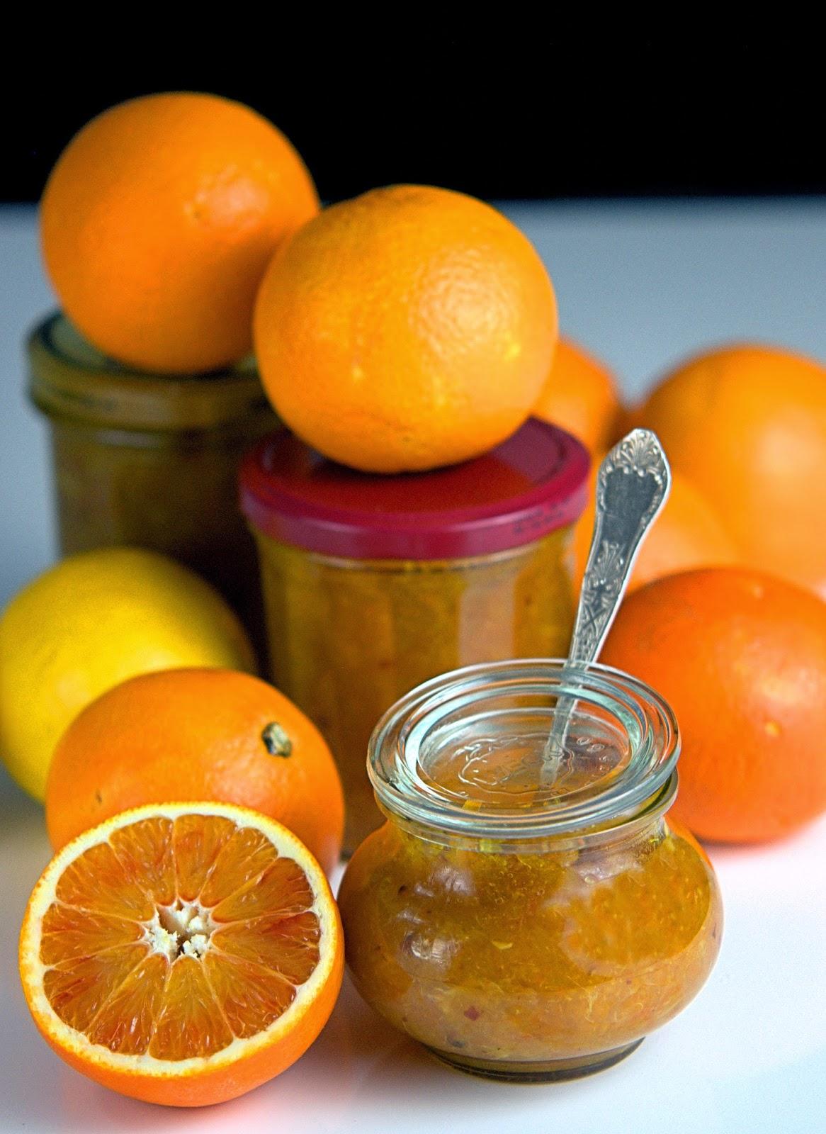 Konfitura pomarańcza z imbirem i czerwonym pieprzem