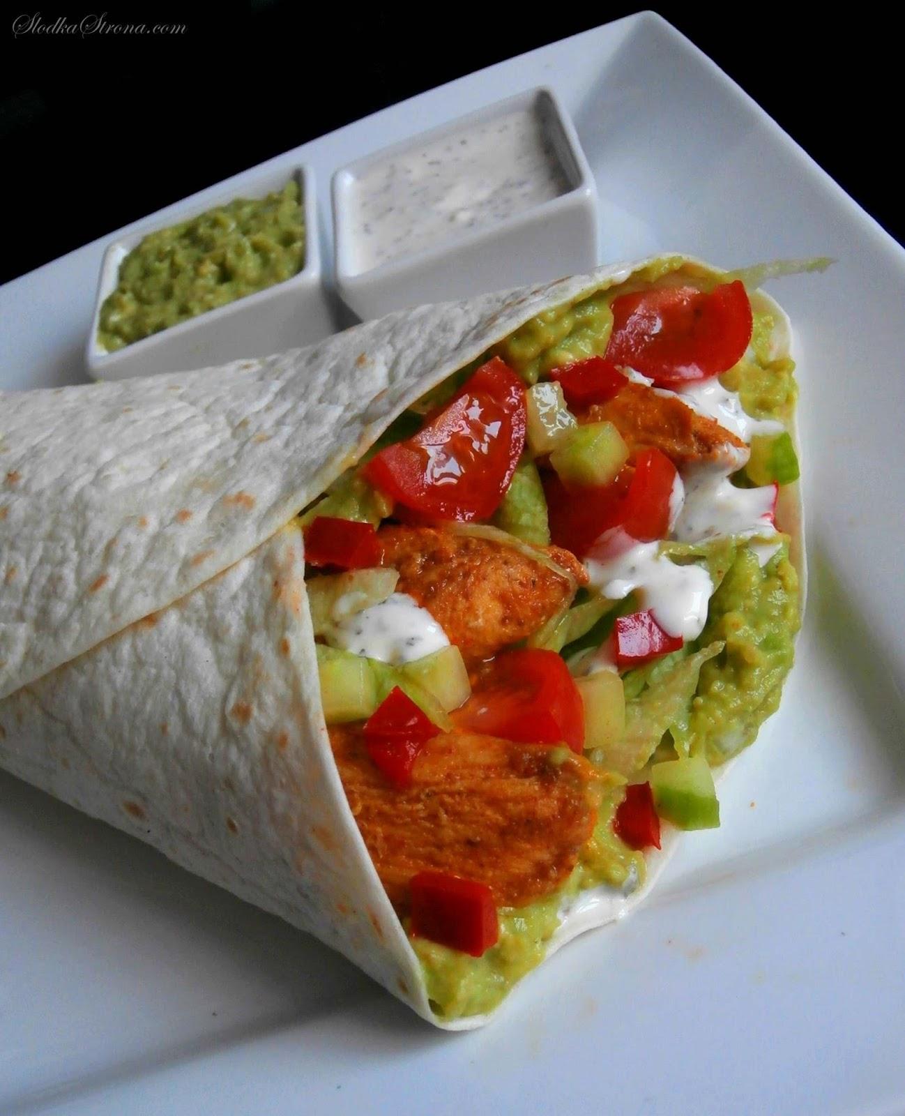 Tortilla z Kurczakiem i Guacamole