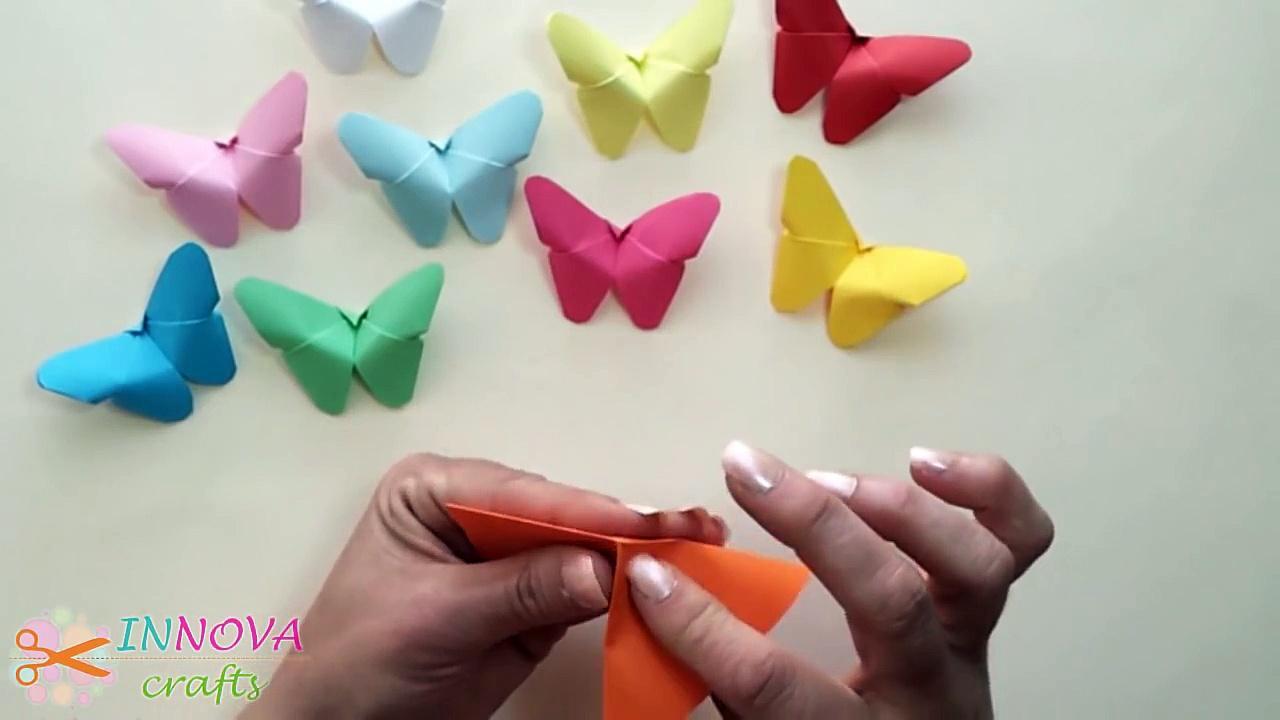 Motyle z papieru do dekoracji ścian - piękne i proste - DomPelenPomyslow.pl