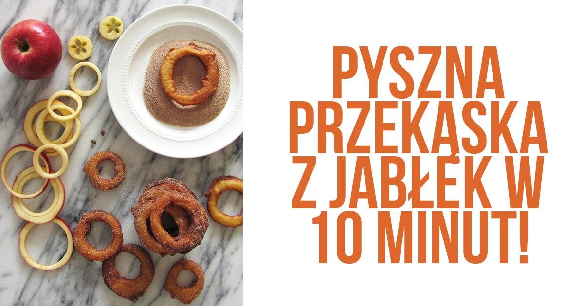 Pyszna przekąska z jabłek w 10 minut!