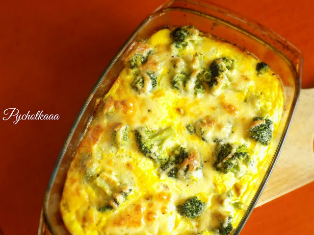 Zapiekanka brokułowa z kurczakiem, serem w 20 minut