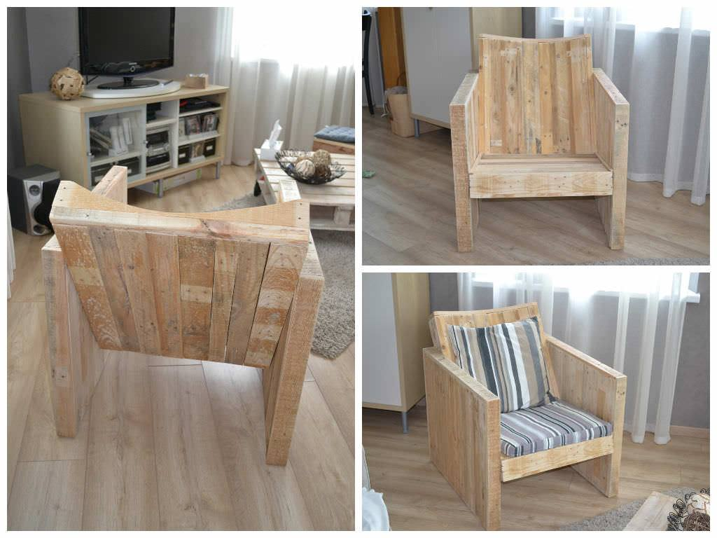 Fotel z palet