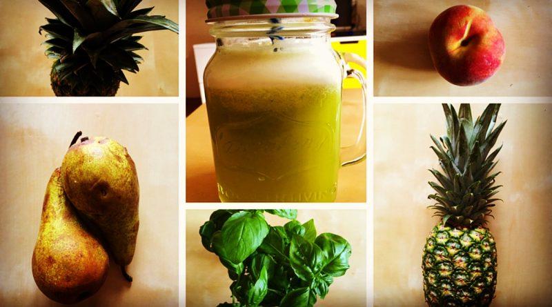 Bazyliowy sok z ananasa – wspomaga trawienie
