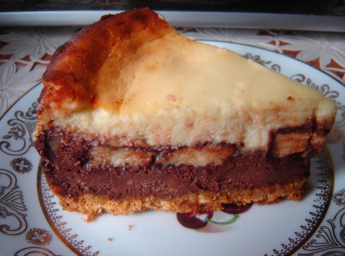 Sernik czekoladowy z ptasim mleczkiem