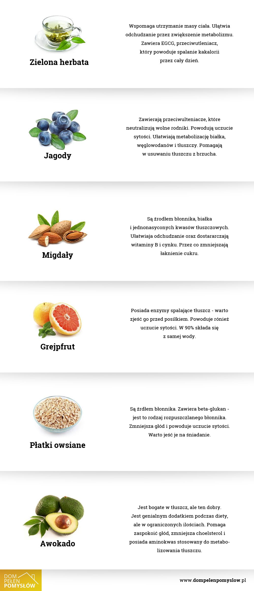 6 super-produktów, które wspomagają odchudzanie!