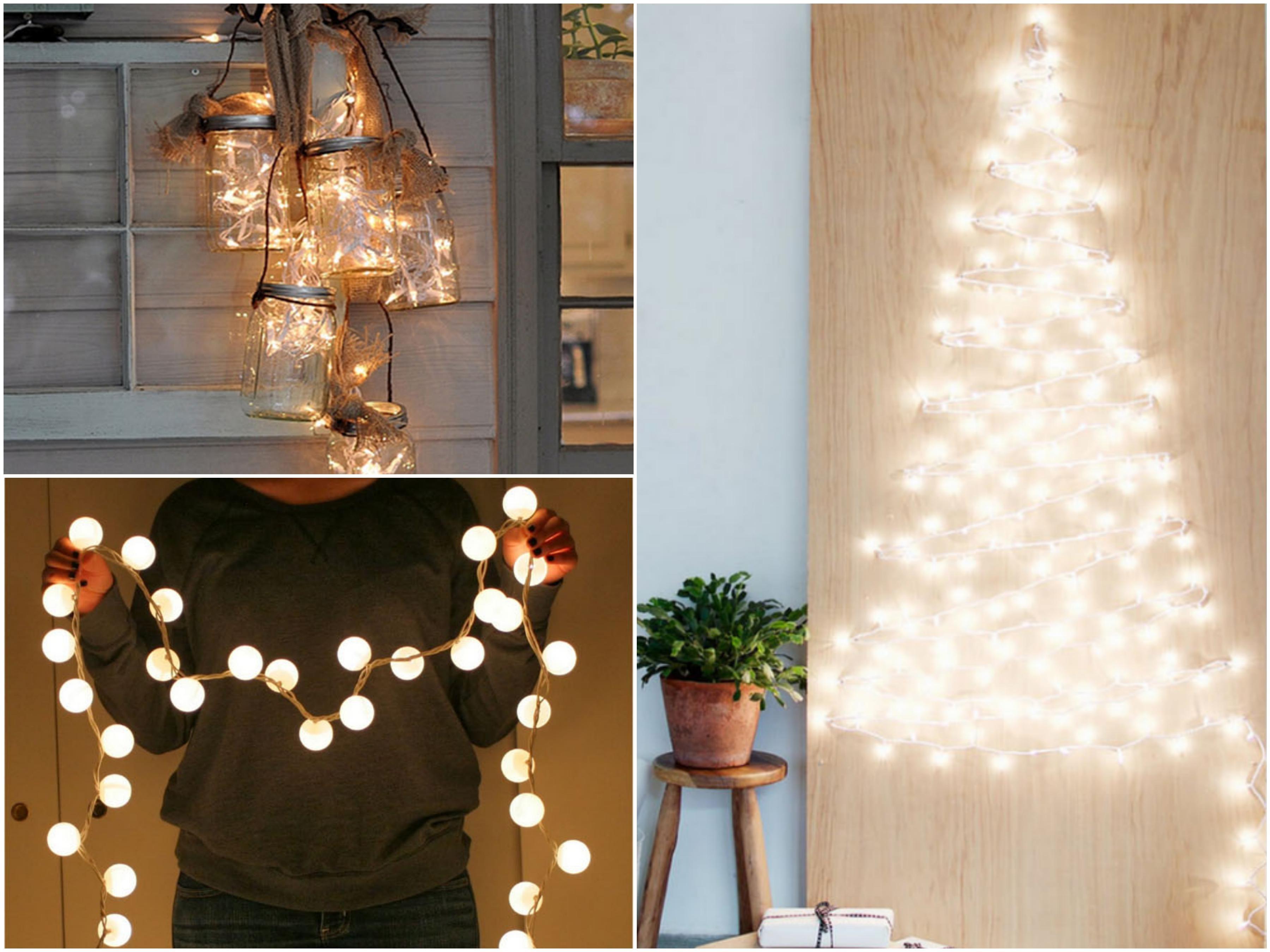 10 genialnych sposobów na wykorzystanie lampek choinkowych do zrobienia pięknych dekoracji