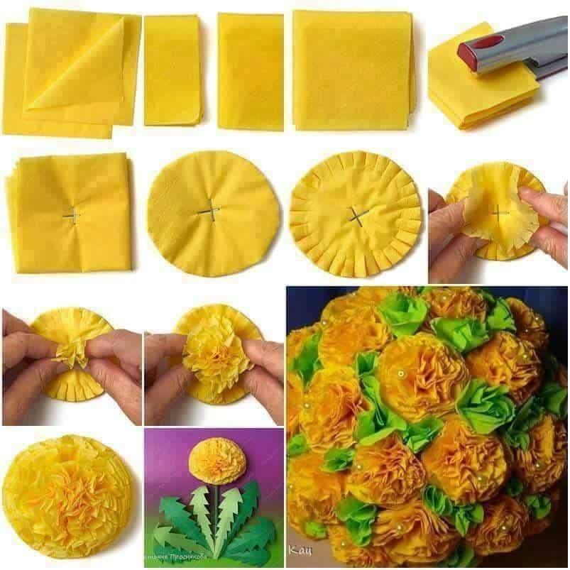 Jak zrobić bukiet z serwetek