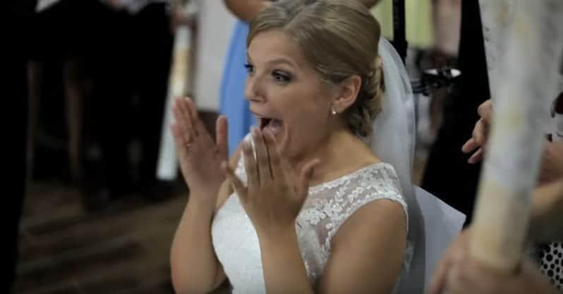 Pan Młody zaskoczył swoją żonę podczas pierwszego tańca. Zobaczcie co zrobił!