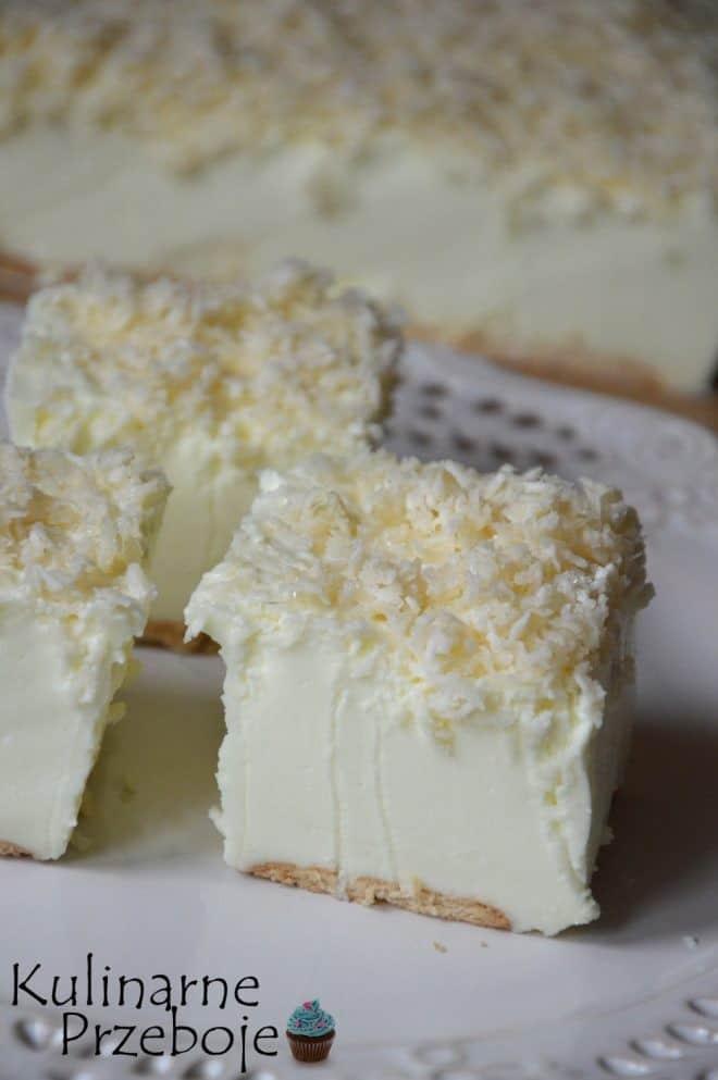 Ciasto Śnieżny puch – bez pieczenia – w kilka minut! HIT!!!