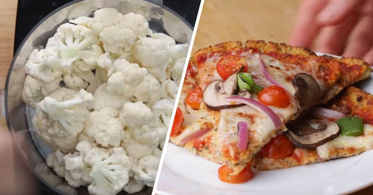 Przepis na zdrową pizzę z kalafiora, którą możesz zajadać się na diecie!