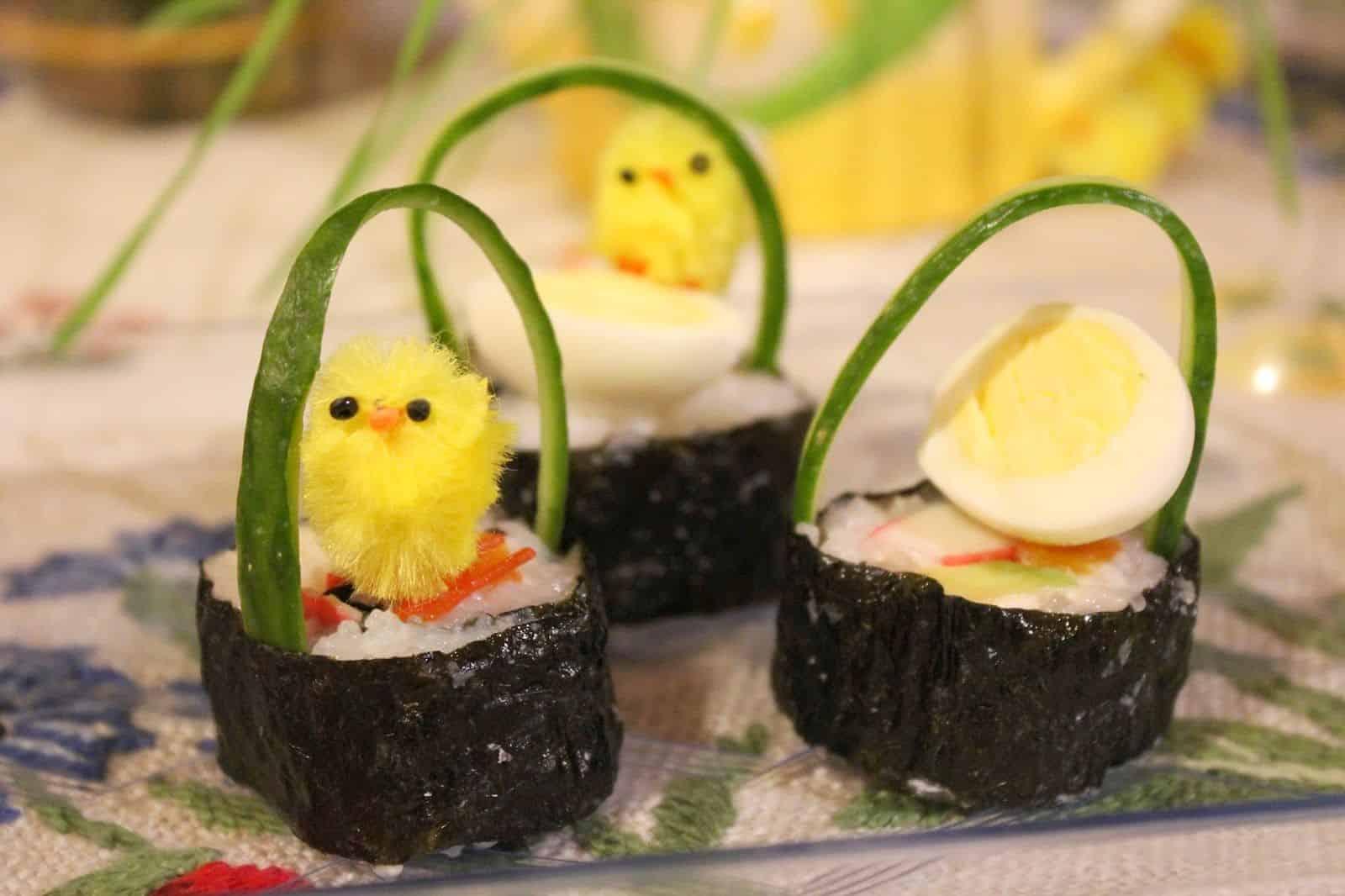 Sushi wielkanocne