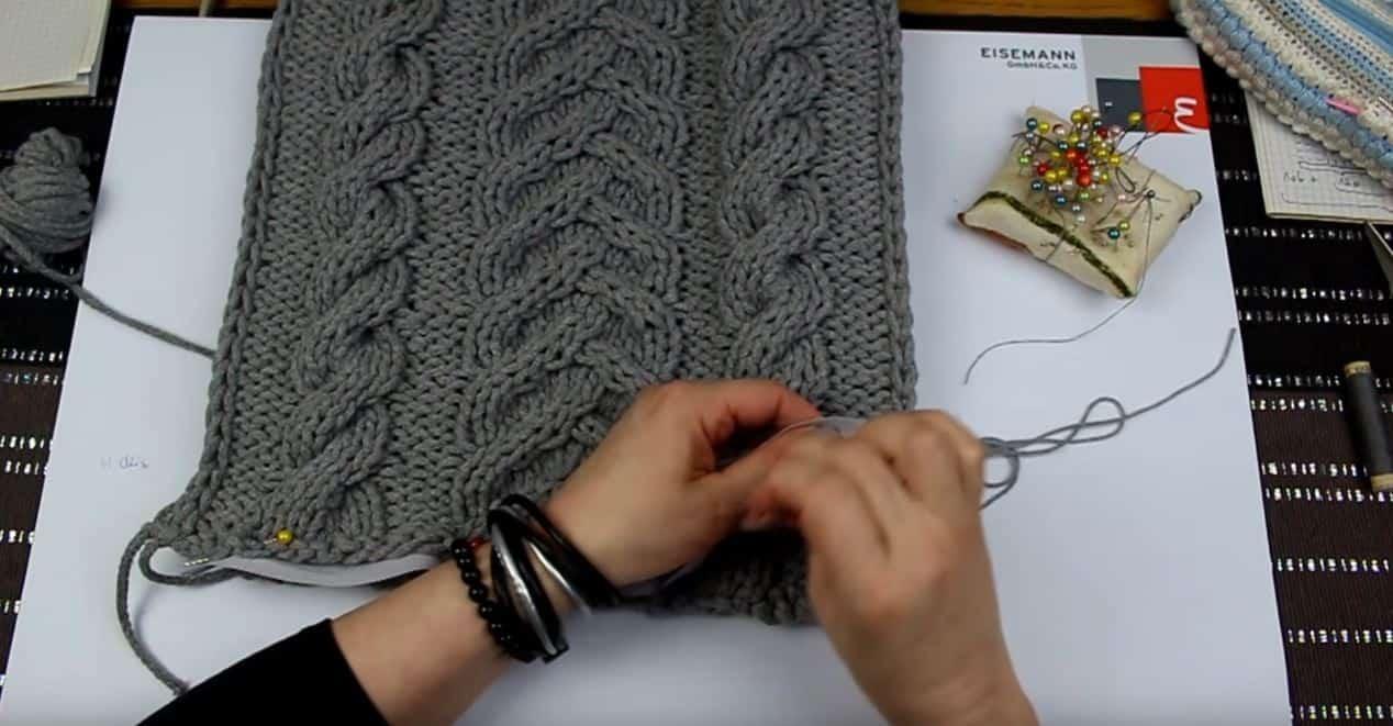 Modna poduszka ze sznurka bawełnianego