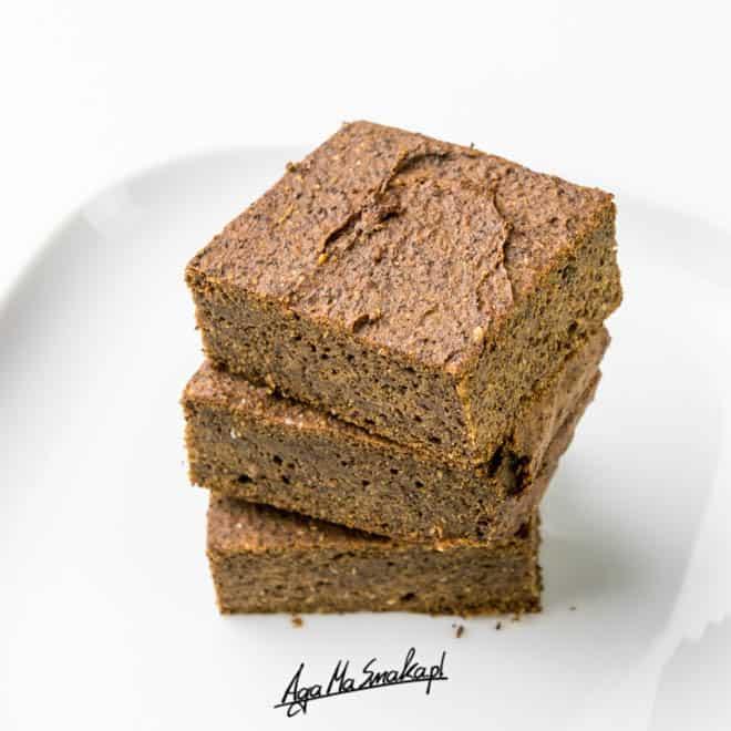 Zdrowe brownie z batatem i makiem