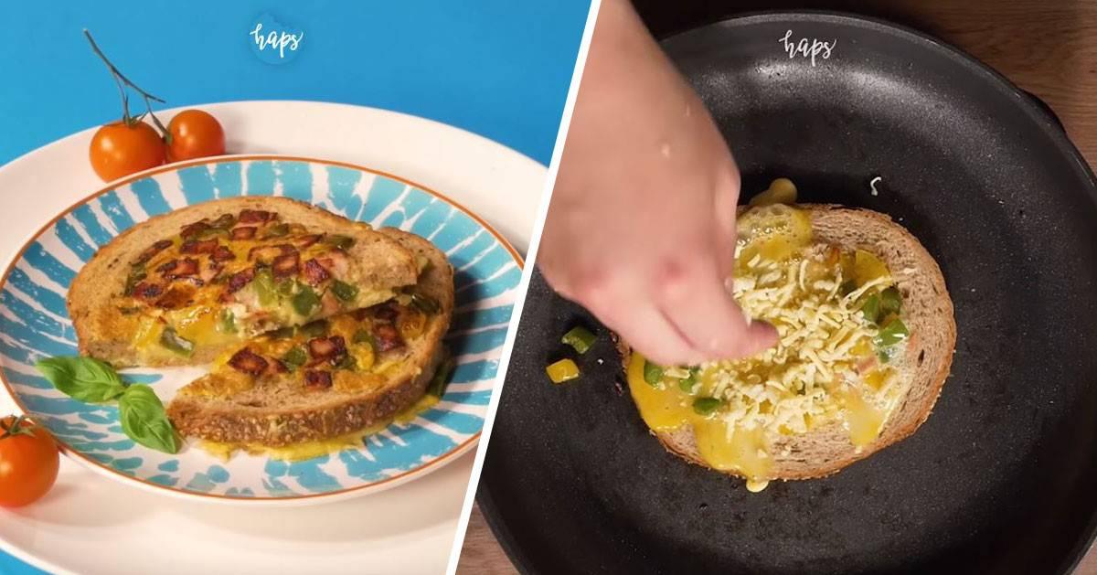 Tosty omletowe czyli super pomysł na śniadanie lub kolację