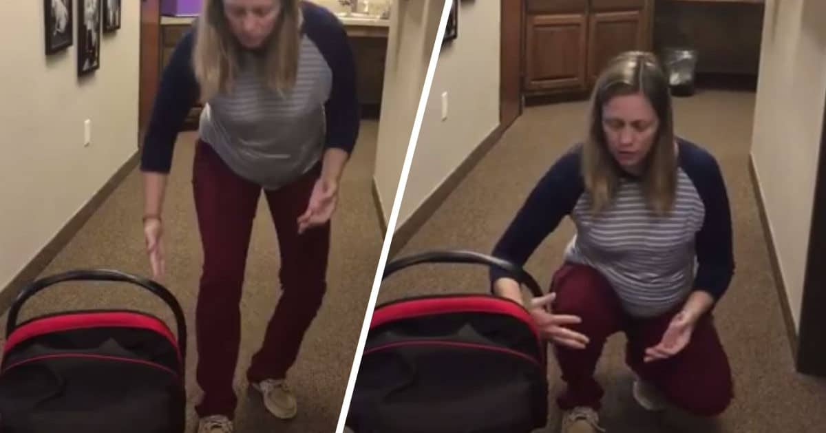 Bolą Cię plecy od noszenia fotelika? Robisz to źle! Lekarka tłumaczy jak poprawnie go nosić.