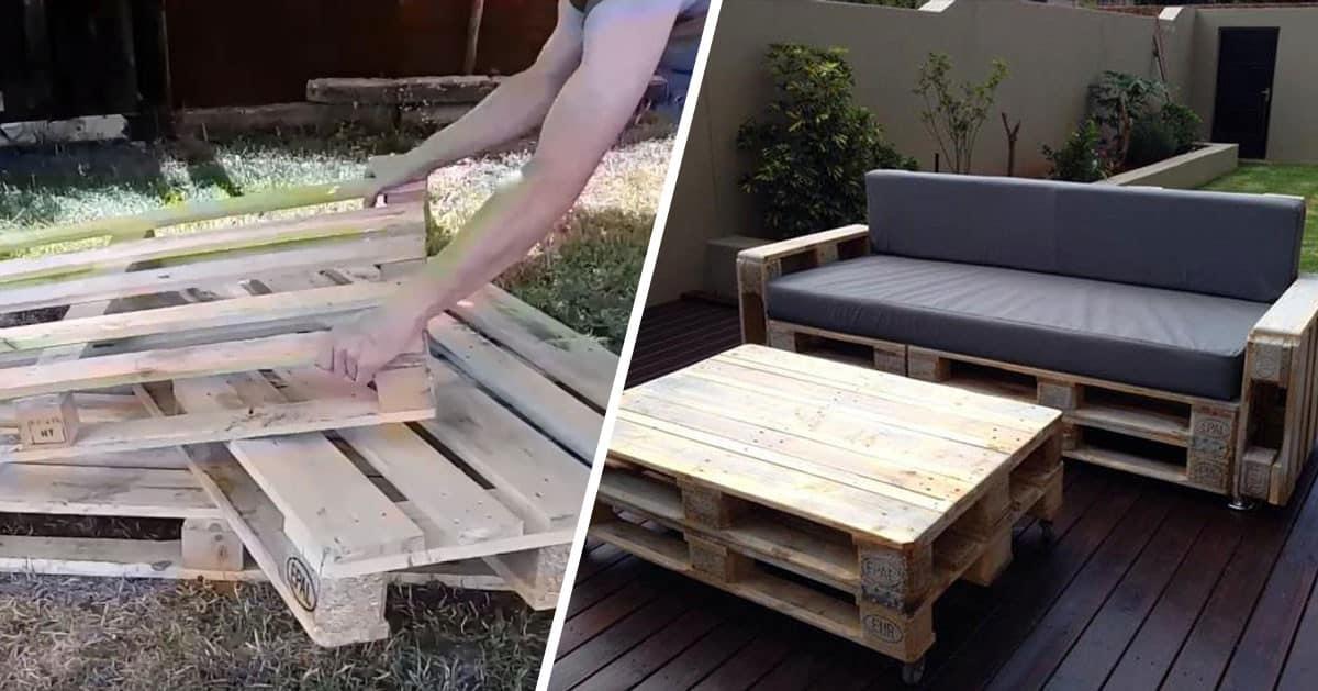 Jak zbudować sofę z palet do ogrodu – KROK PO KROKU!