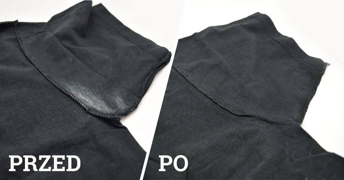 Jak usunąć ślady antyperspirantu z odzieży?