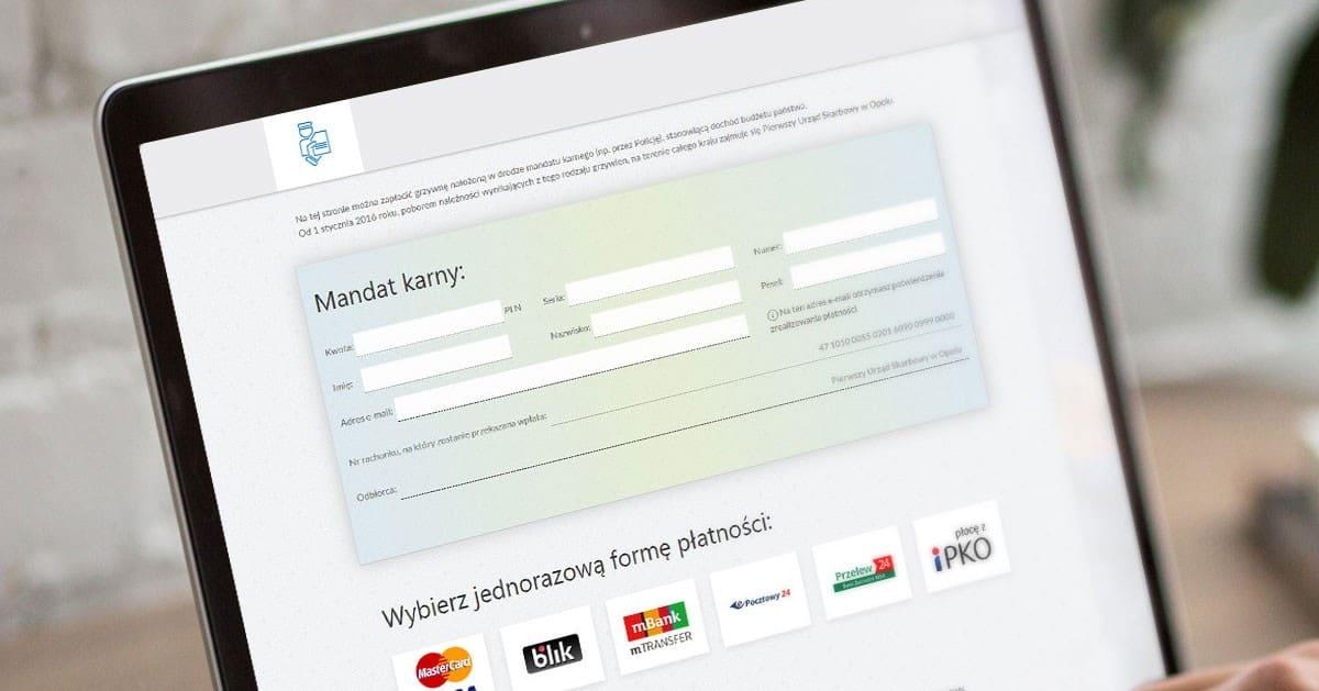 Jak zapłacić za mandat przelewem online / kartą płatniczą