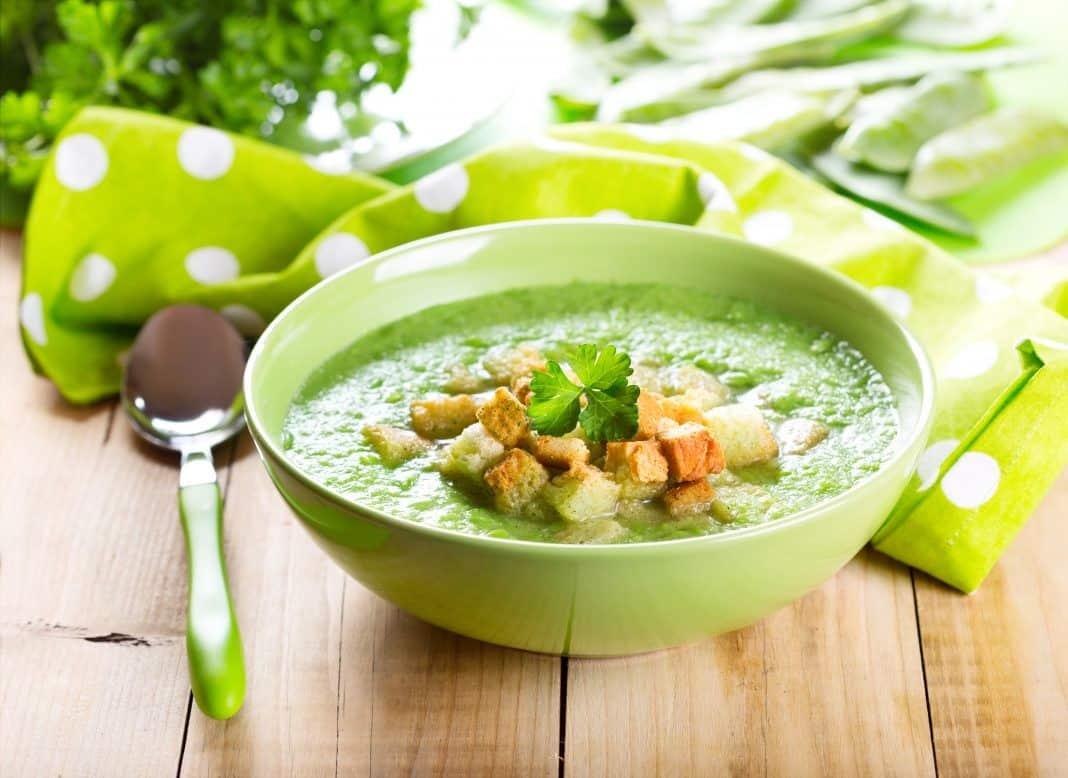 Крем суп гороховый постный рецепт