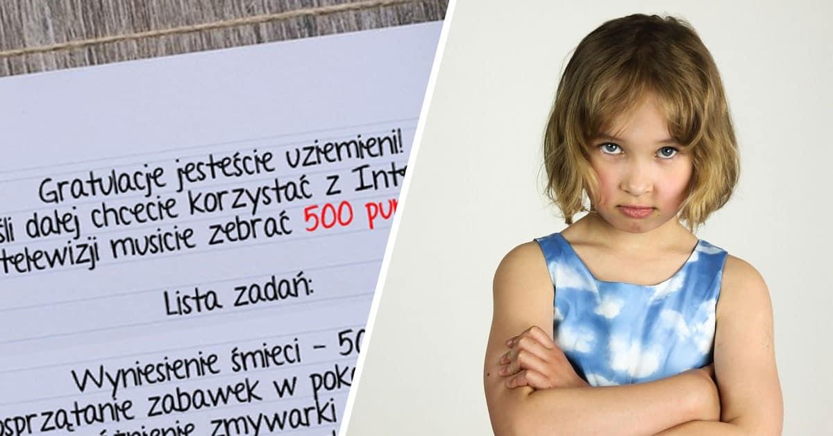 Pomysłowa mama wymyśliła sposób na mobilizację dzieci do domowych obowiązków