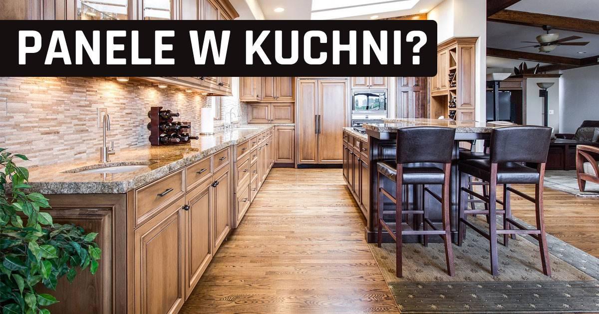 DomPelenPomyslow.pl PANELE W KUCHNI - wady i zalety. Czy panele podłogowe w kuchni to dobry pomysł?