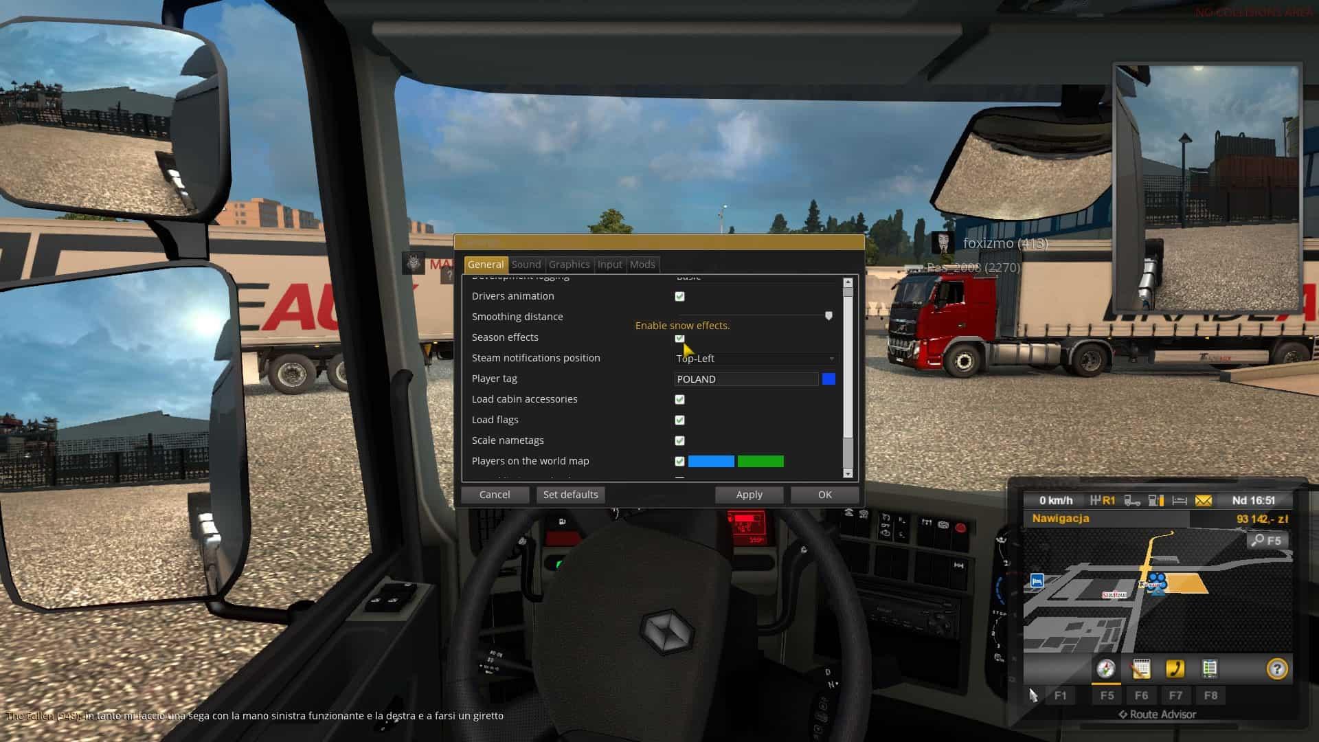 TruckersMP Winter Mod wyłączony, ale pada śnieg. Jak wyłączyć śnieg Euro Truck Simulator 2 Multiplayer