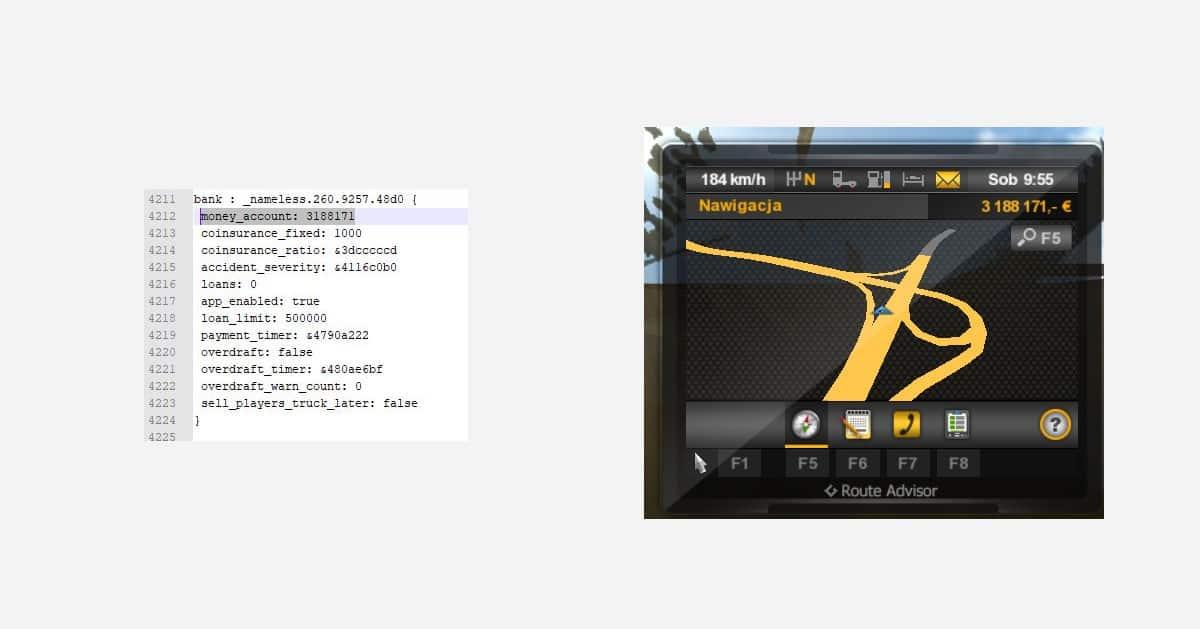 Jak zwiększyć liczbę pieniędzy w Euro Truck Simulator 2 – ETS2 Money Hack