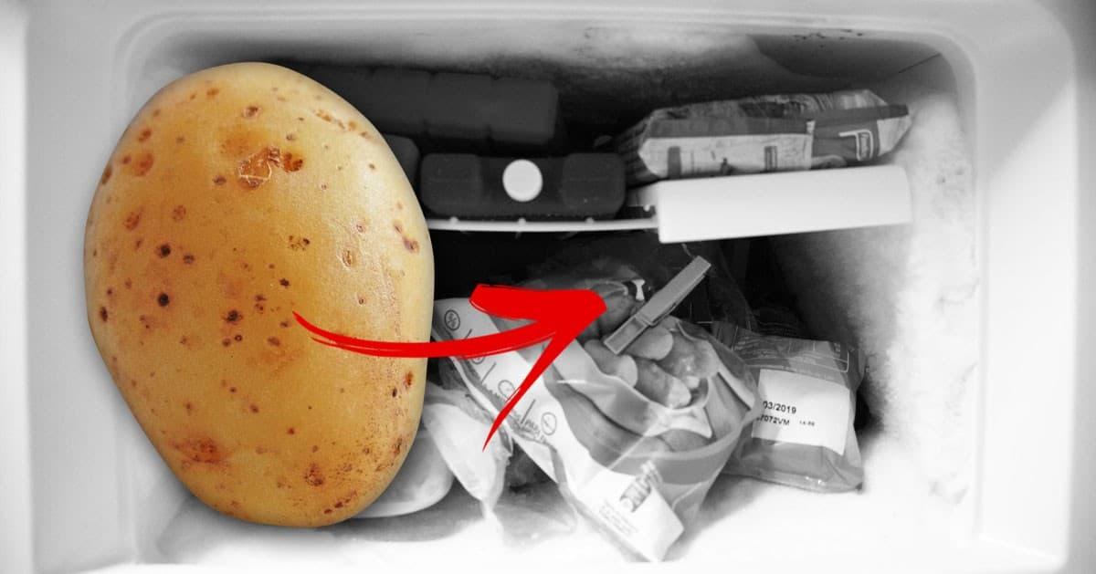 Przed ugotowaniem zawsze wkładaj ziemniaki do zamrażarki. Dzięki temu danie będzie jeszcze lepsze!