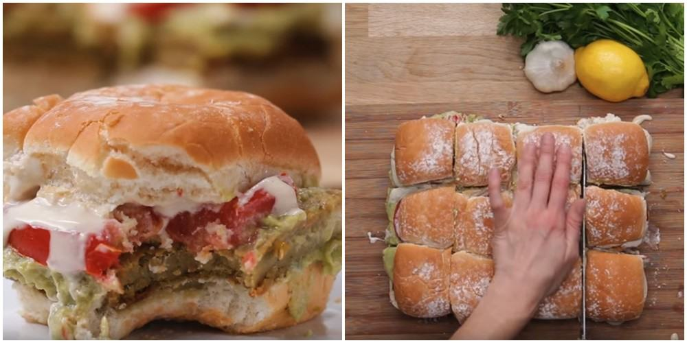 Największy hamburger jakiego jedliście! Idealny na imprezę!