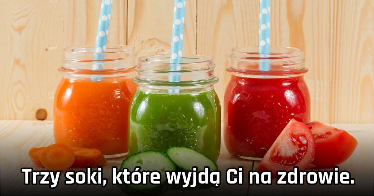 Trzy soki, które wyjdą Ci na zdrowie! Ogórkowy, pomidorowy i marchewkowy.