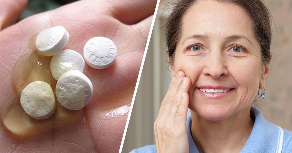 DomPelenPomyslow.pl Jak mieć twarz bez zmarszczek w wieku 60 lat? 3 przepisy na maseczki z aspiryny, które musisz zacząć stosować!