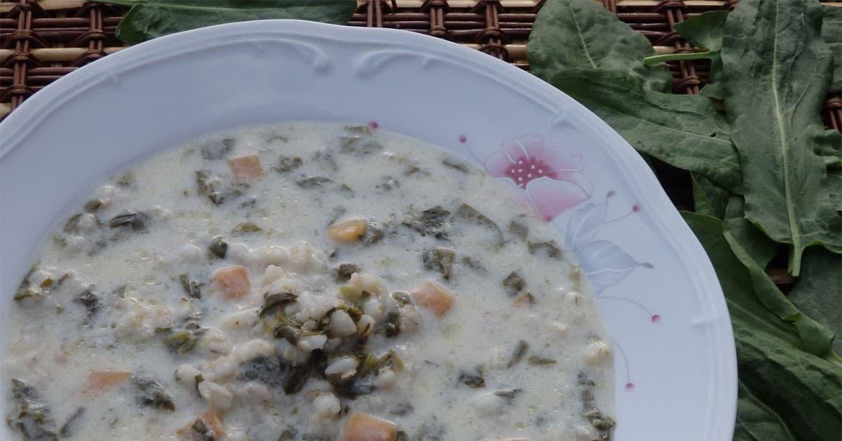 DomPelenPomyslow.pl Zupa szczawiowa z pęczakiem
