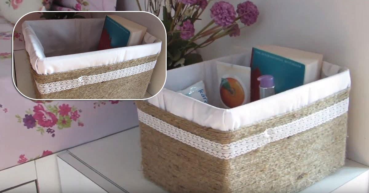 Jak zrobić dekoracyjny kosz z kartonowego pudełka