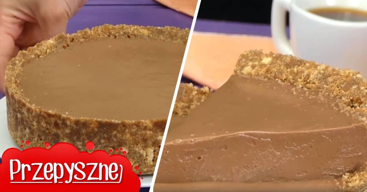 Genialne ciasto czekoladowe bez pieczenia gotowe w 15 minut!