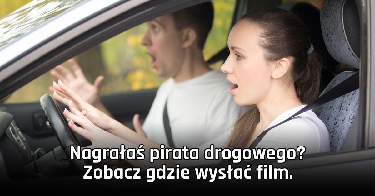 Stop agresji drogowej! Gdzie wysyłać filmy?