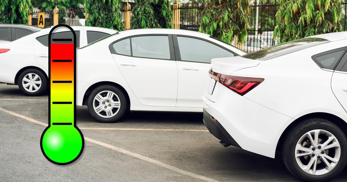 Czy wiesz do jakiej temperatury nagrzewa się auto w godzinę na słońcu?