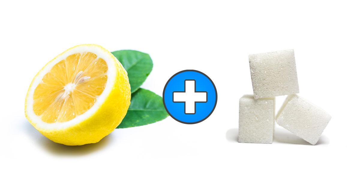 Połówka cytryny i 1/4 szklanki cukru. Te dwa składniki wykorzystaj by zadbać o urodę!