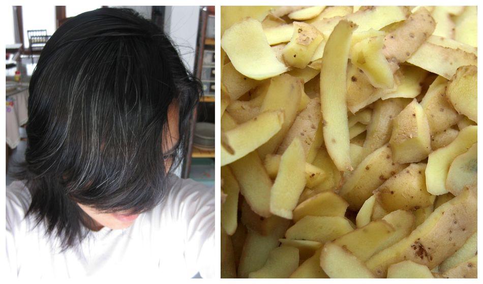 Zobacz jak przywrócić naturalny kolor włosów dzięki obierkom ziemniaków