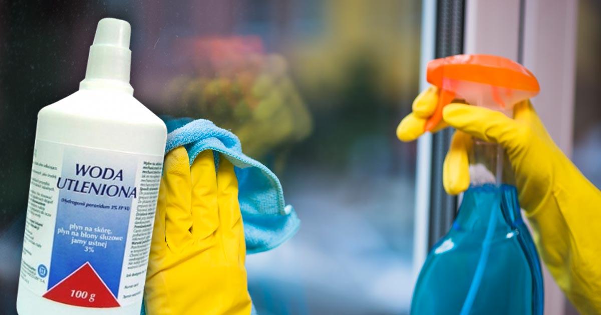 Dzięki wodzie utlenionej umyjesz okna bez smug