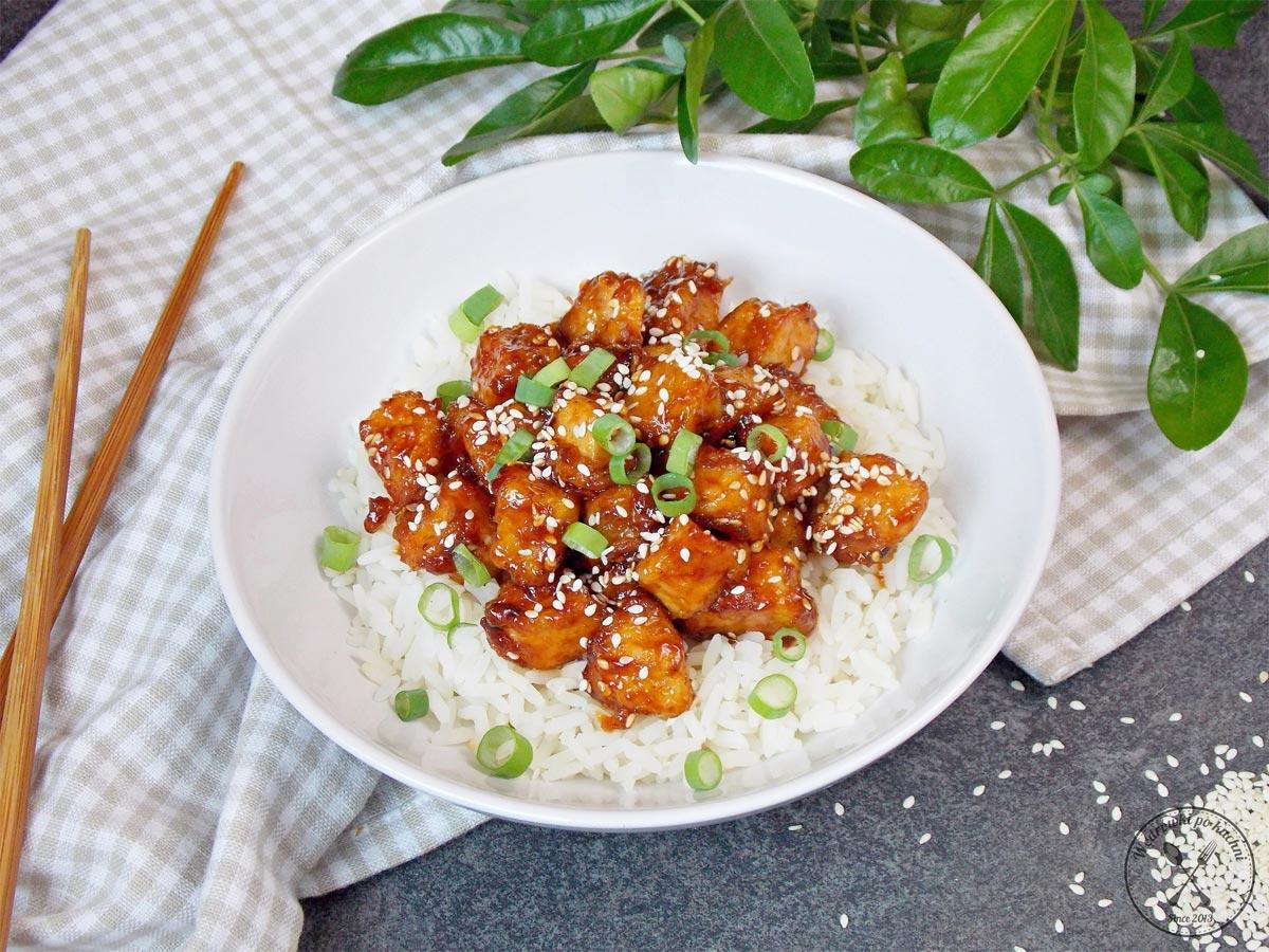 Kurczak słodko-kwaśny z ryżem