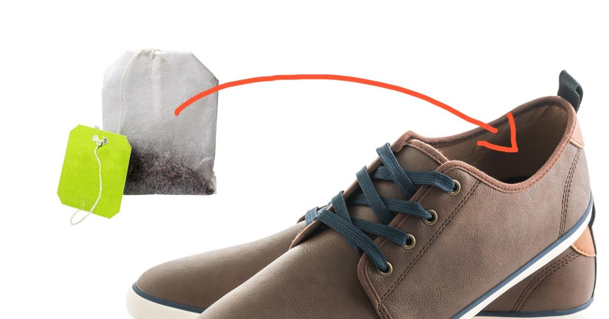 Włóż torebkę herbaty na noc do buta, zobacz dlaczego!