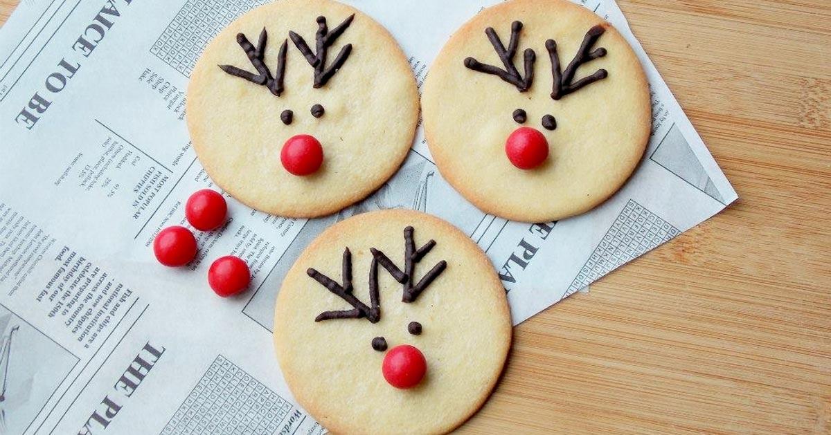 Waniliowe ciasteczka z Rudolfem