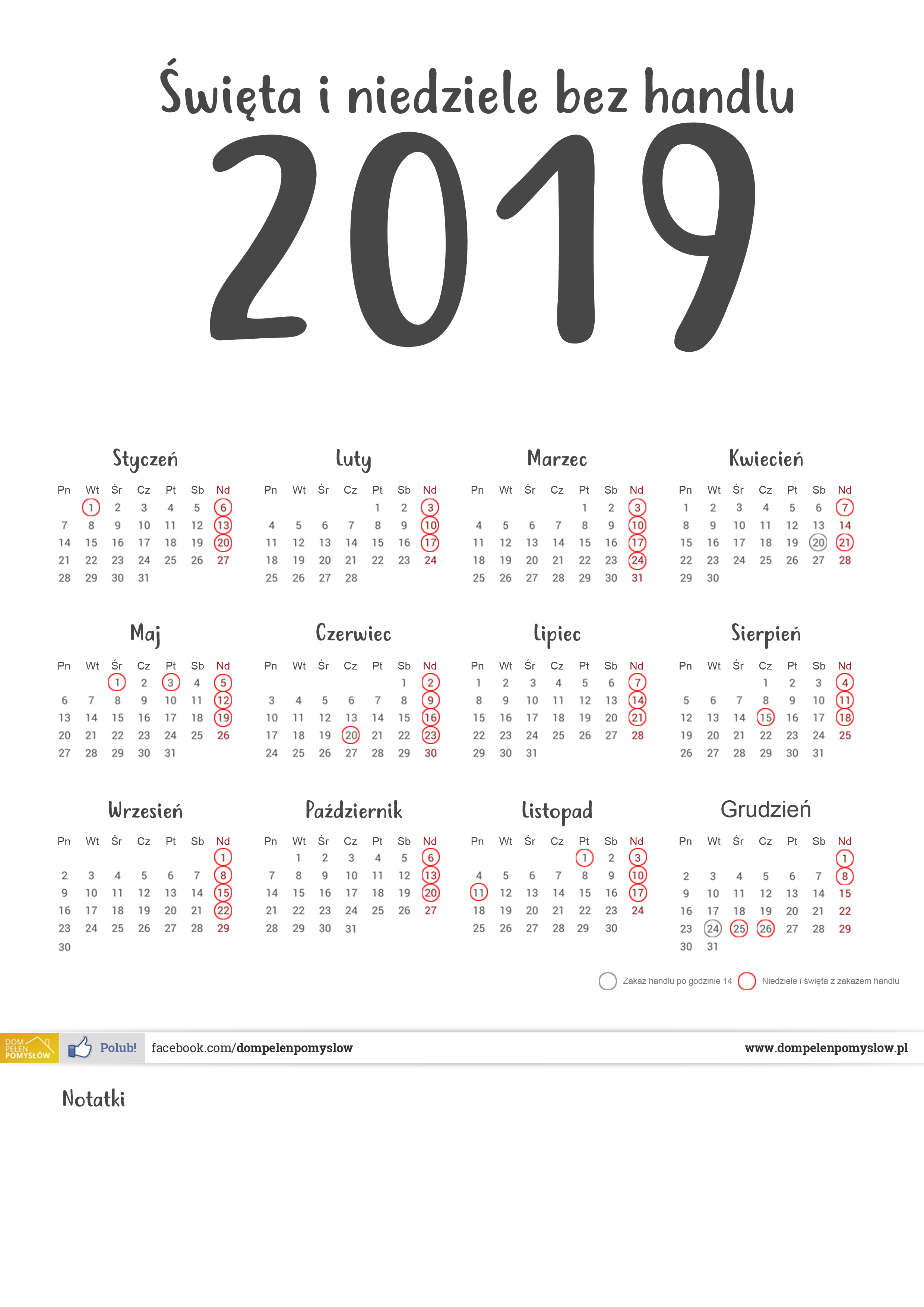 Niedziele Bez Handlu W 2019 Roku Zakaz Handlu W Niedziele