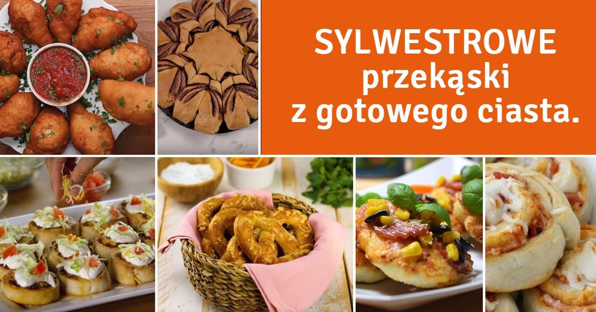 8 przepisów na Sylwestrowe przekąski z gotowego ciasta!