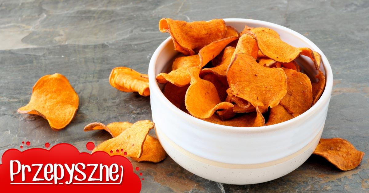 Przepis na pieczone dietetyczne chipsy z batatów