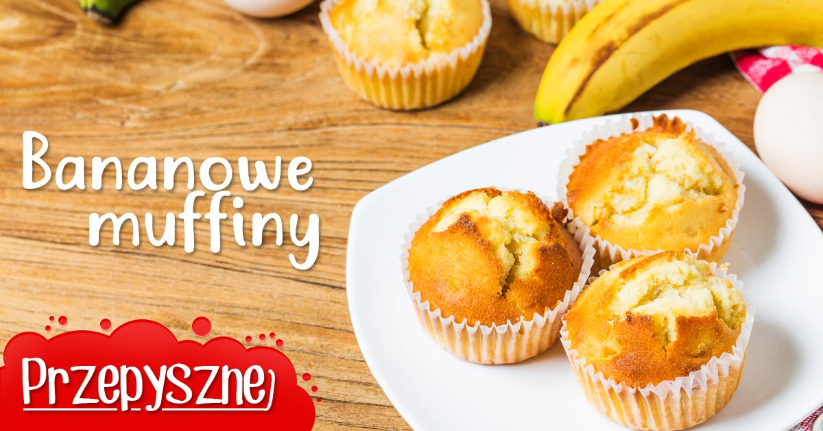 Przepis na smaczne bananowe muffinki