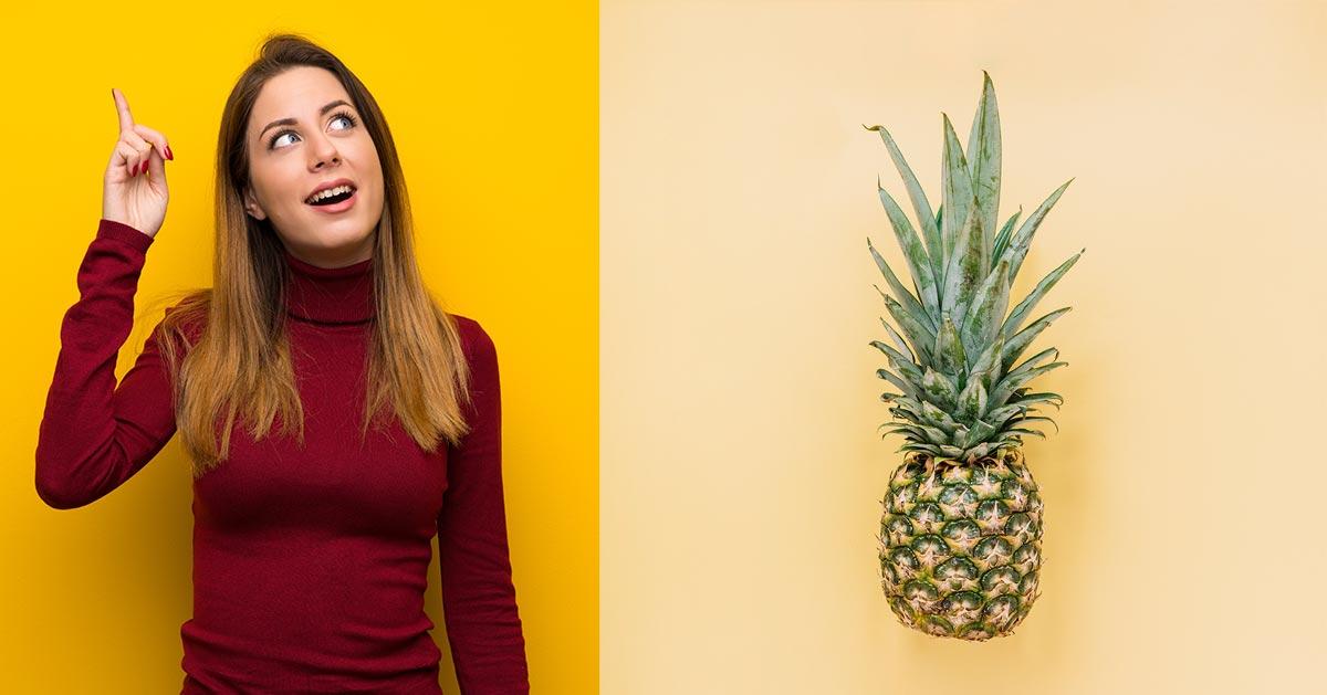 Prawdopodobnie do tej pory jadłaś ananasa w zły sposób!