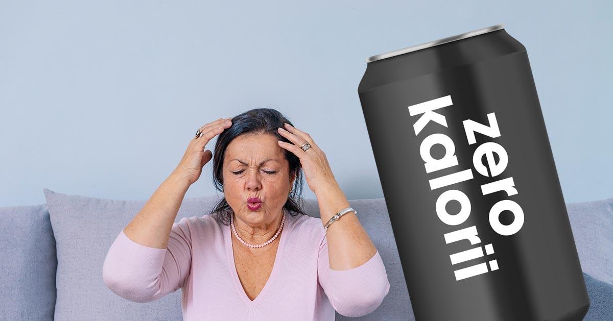 Napojów BEZ KALORII nie powinny pić kobiety po menopauzie. Zobacz dlaczego!