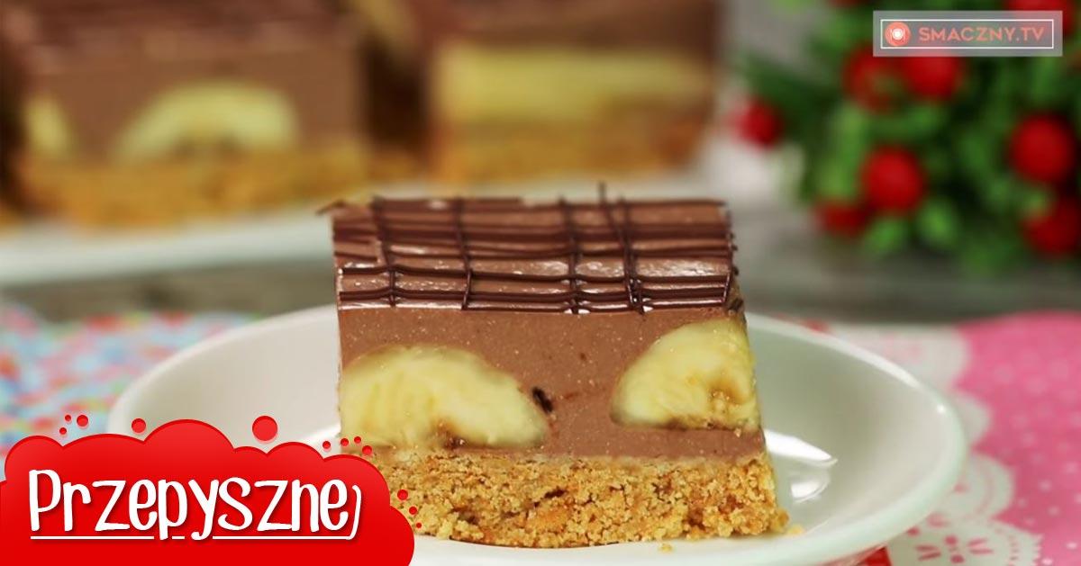 Genialne ciasto czekoladowe z bananami idealne na weekend